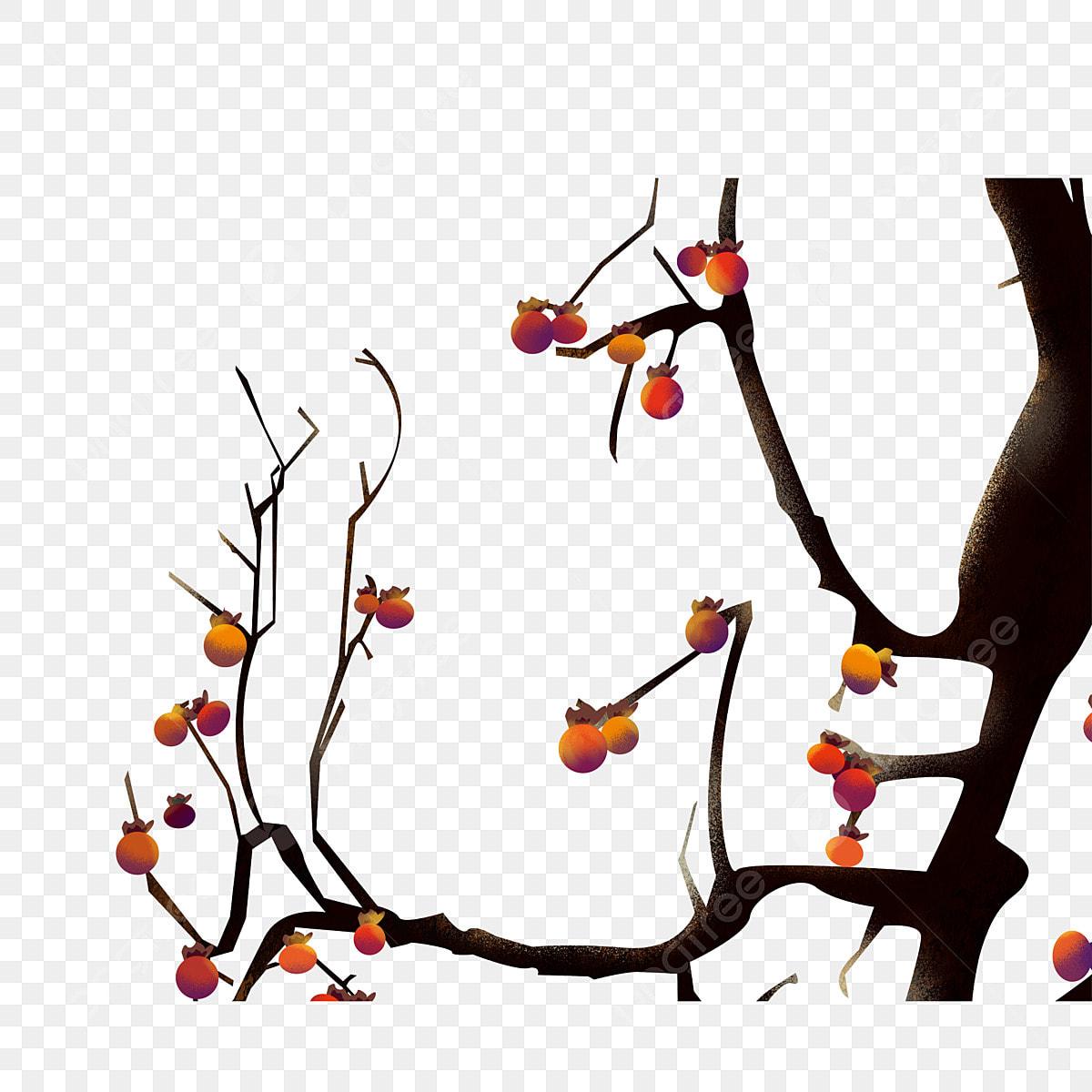 Bemalte Einen Kaki Baum Fur Kommerzielle Elemente Gemalt