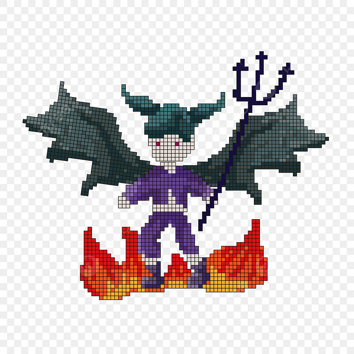Pixel Wind Demon Peut être Un élément Commercial Halloween