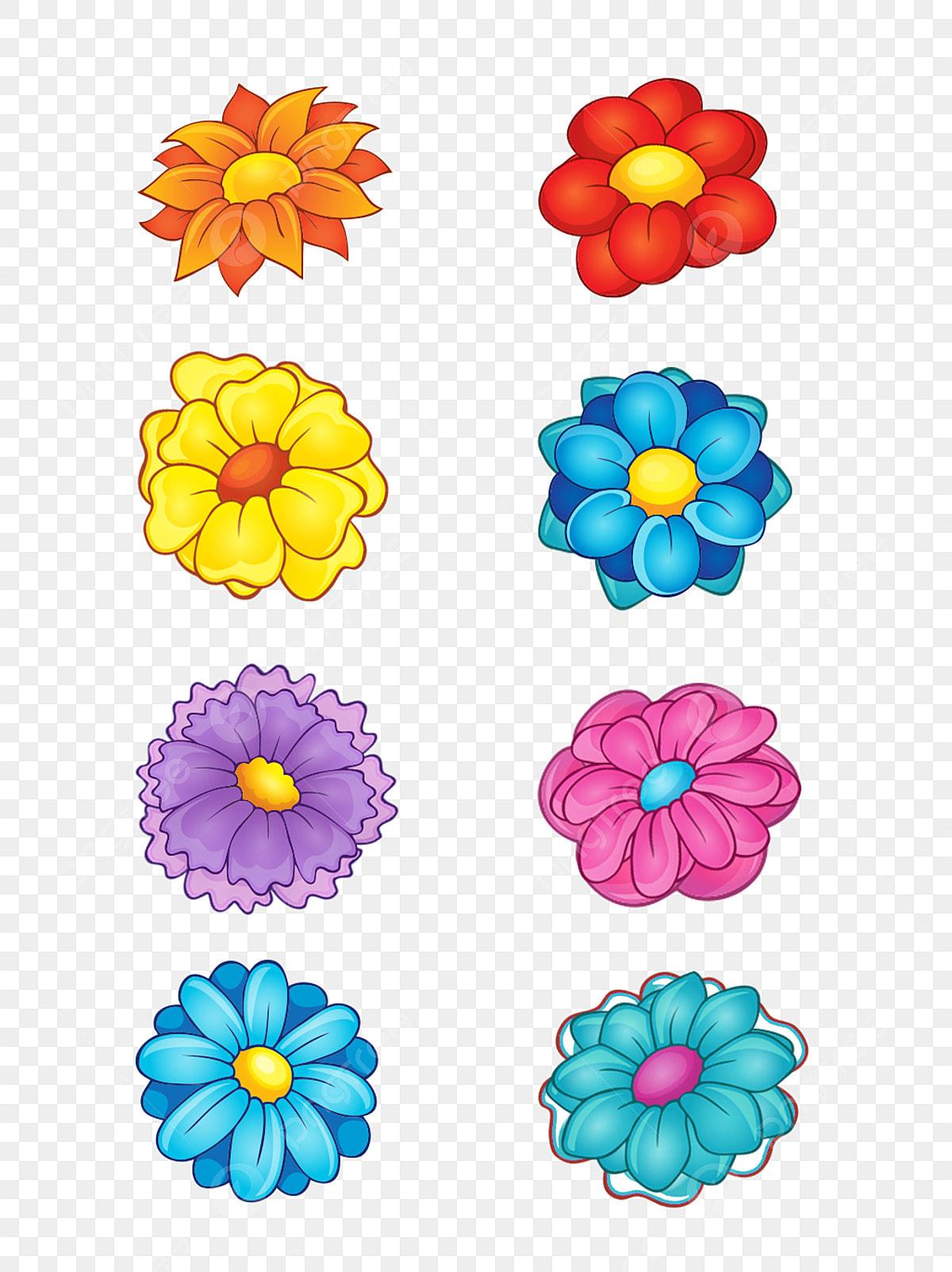 Matériau De Décoration Fleurs Couleur Dessin Animé Plante