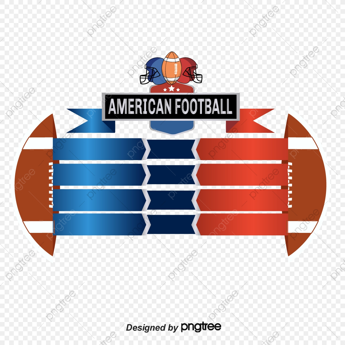 Red Blue Retro American Football Scoreboard Elements Sports Helmet Gradient Png And Vector With Transparent Background For Free Download