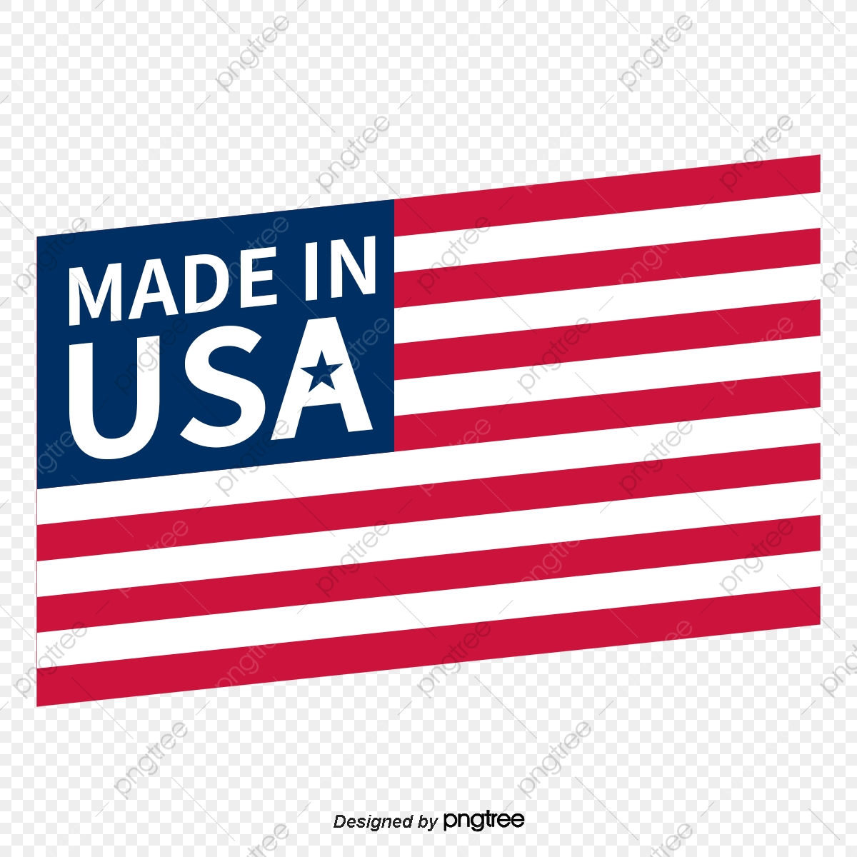 American flag simple. Manufacturing elements cartoon national