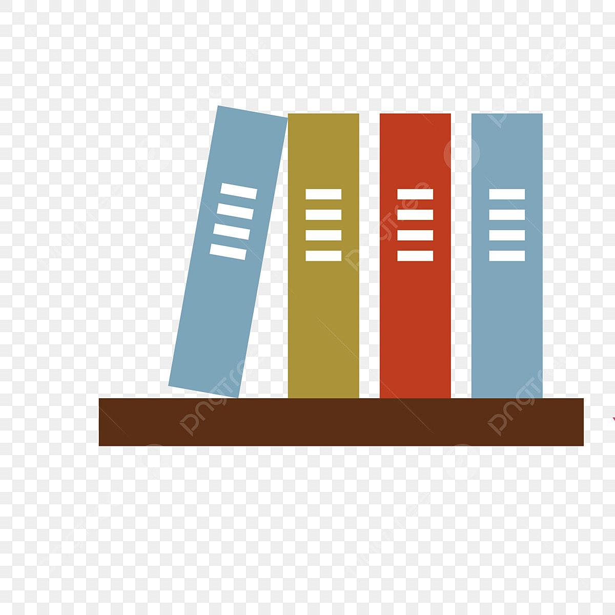 Bibliotheque Simple Et Design De Livre Simple Dessin Anime