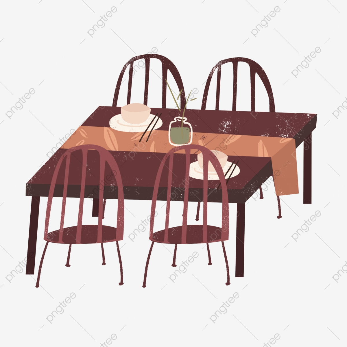 Simple European Dining Tableware Element Design Simple European Style Dining Table Png Transparent Image And Clipart For Free Download