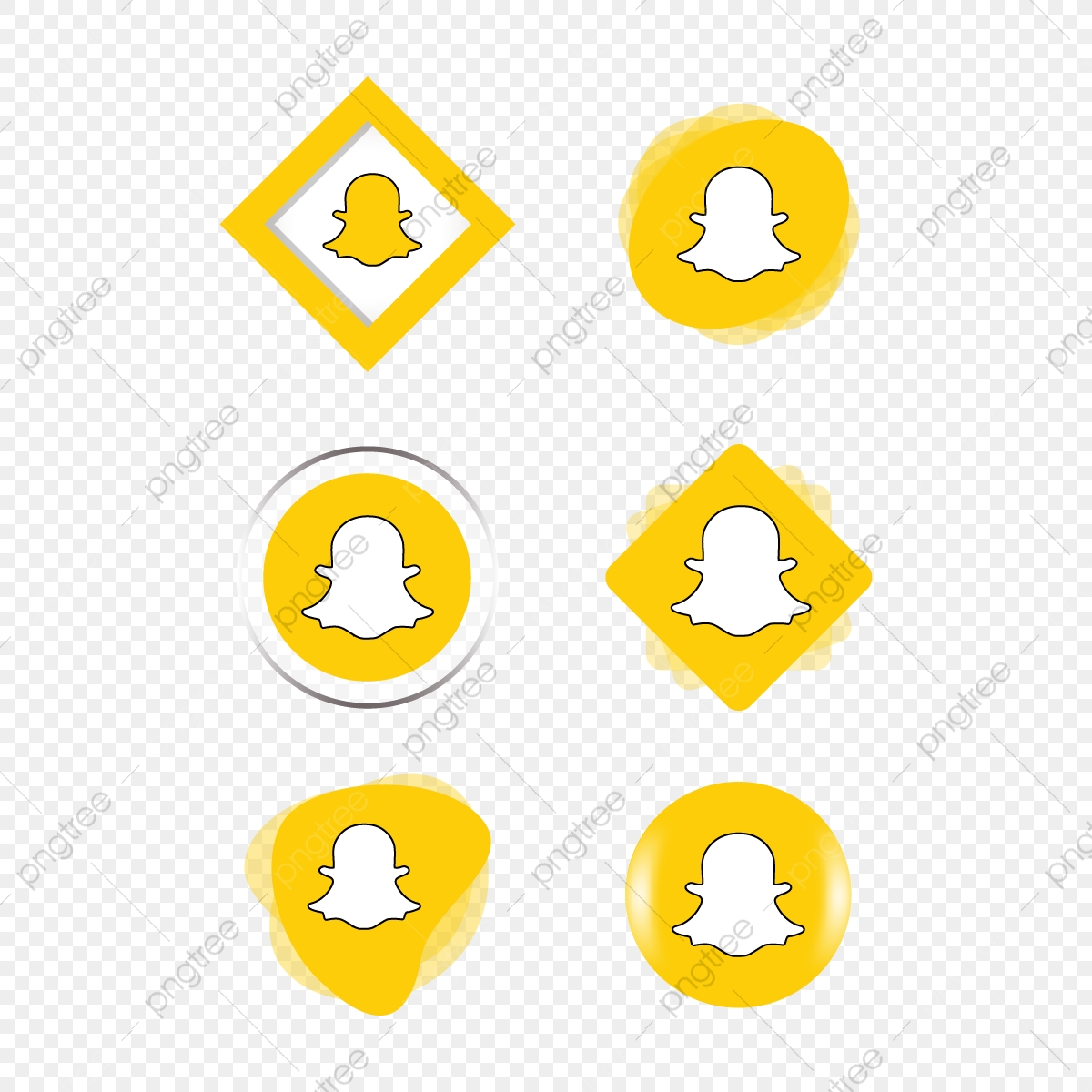Snapchat Snap Chat Icon Logo Collection Set Social Media