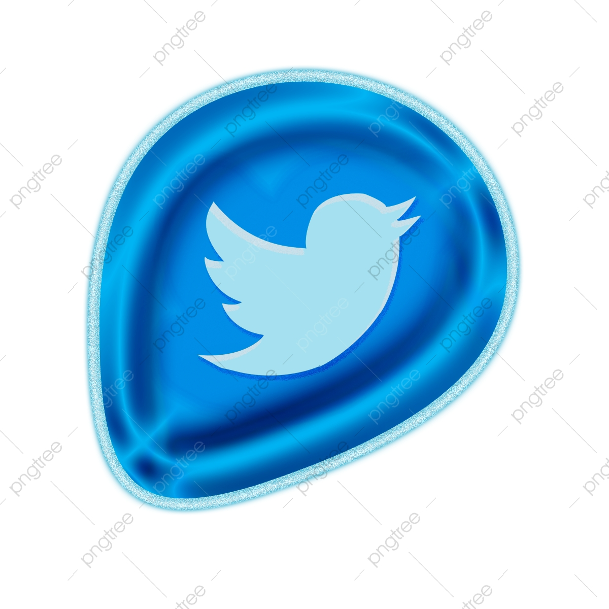 Twitter copyright free. Color icon logo vector