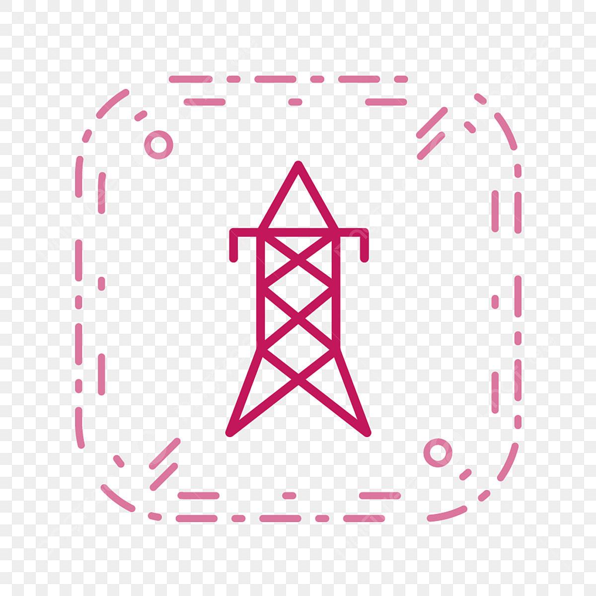 Vector Electric Tour Icône Cercle Conception Pylônes électriques Png