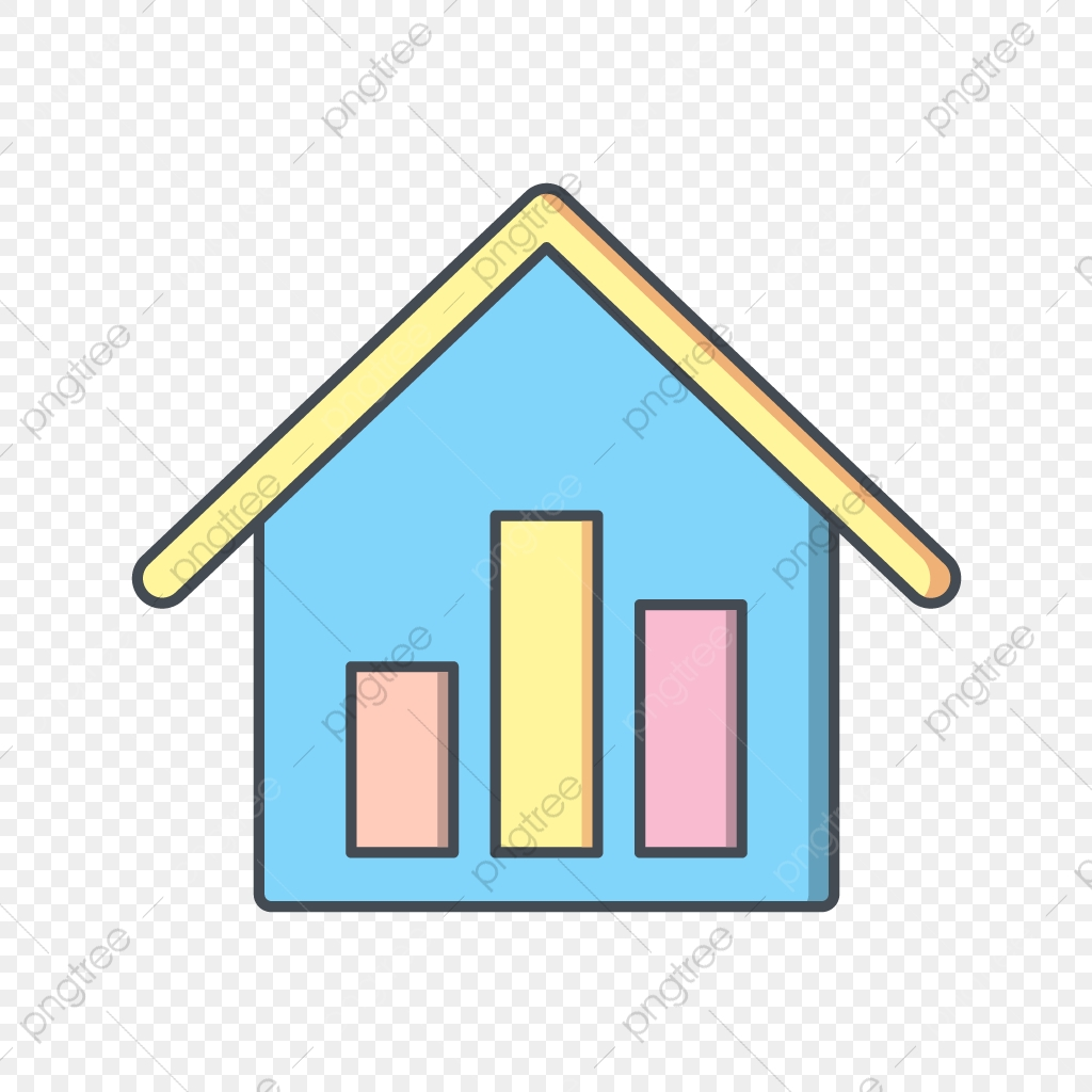 Vector Real Estate Stats Icon, Statistics, Graph, Stats PNG