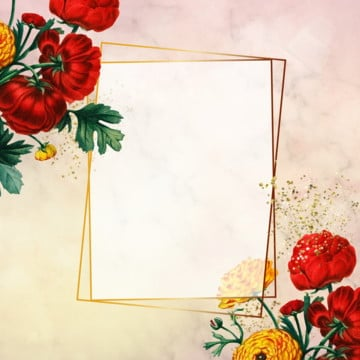 floral frame design, Golden Frame, Floral Frame, Rose PNG and PSD
