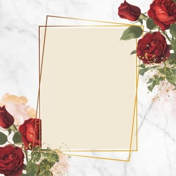 floral geometric frame design, Red Roses, Geometric Frame, Rose PNG and PSD