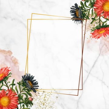 geometric frame on marbled wallpaper, Floral Frame, Blooming, Blue PNG and PSD