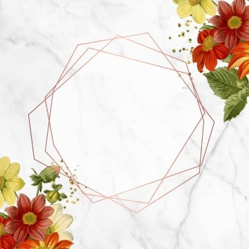 geometric frame with roses, Geometricframe, Blooming, Border PNG and PSD