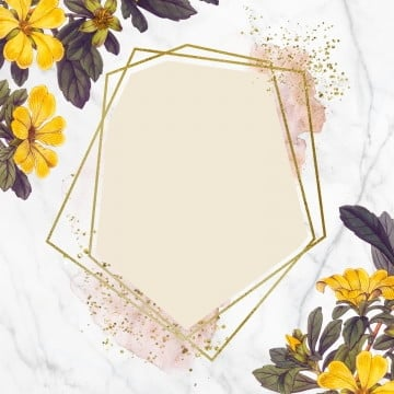 geometrical golden  with flowers, Rose, , Blooming PNG and PSD