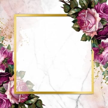 golden frame decorated with roses, Frame, Blooming, Watercolor PNG and PSD