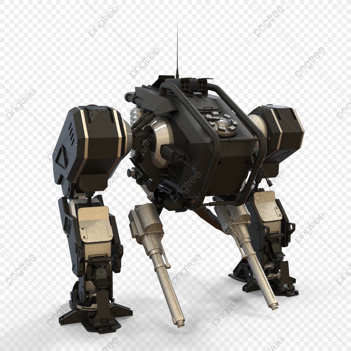 3d Rendering Of A Robot Standing On A Isolated Background