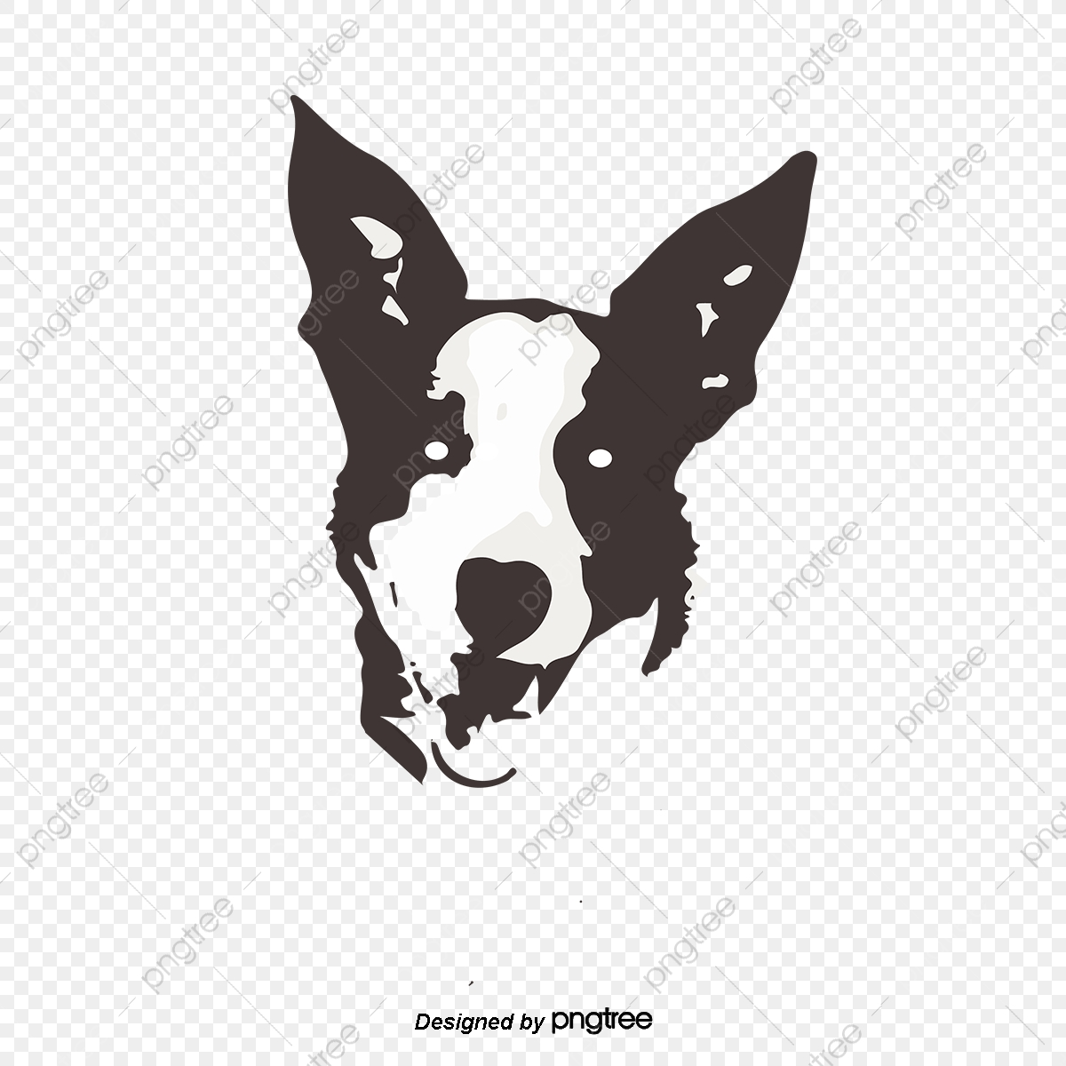 Black And White Dog Handsome Cartoon Dog Silhouette Cartoon Dog Cute Dog Dog Png And Vector With Transparent Background For Free Download