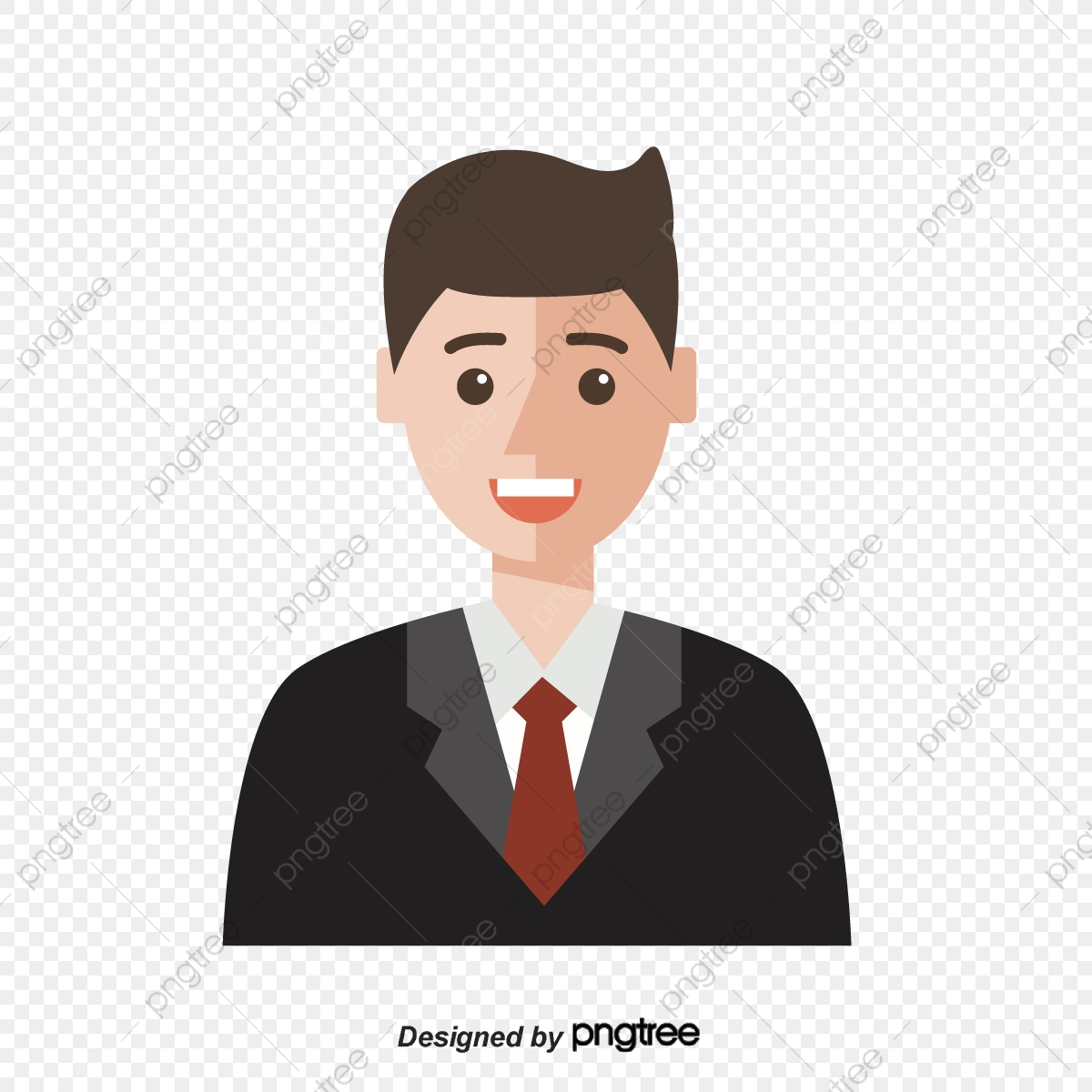 Black Suit Male White Collar Professional Figure Image Character