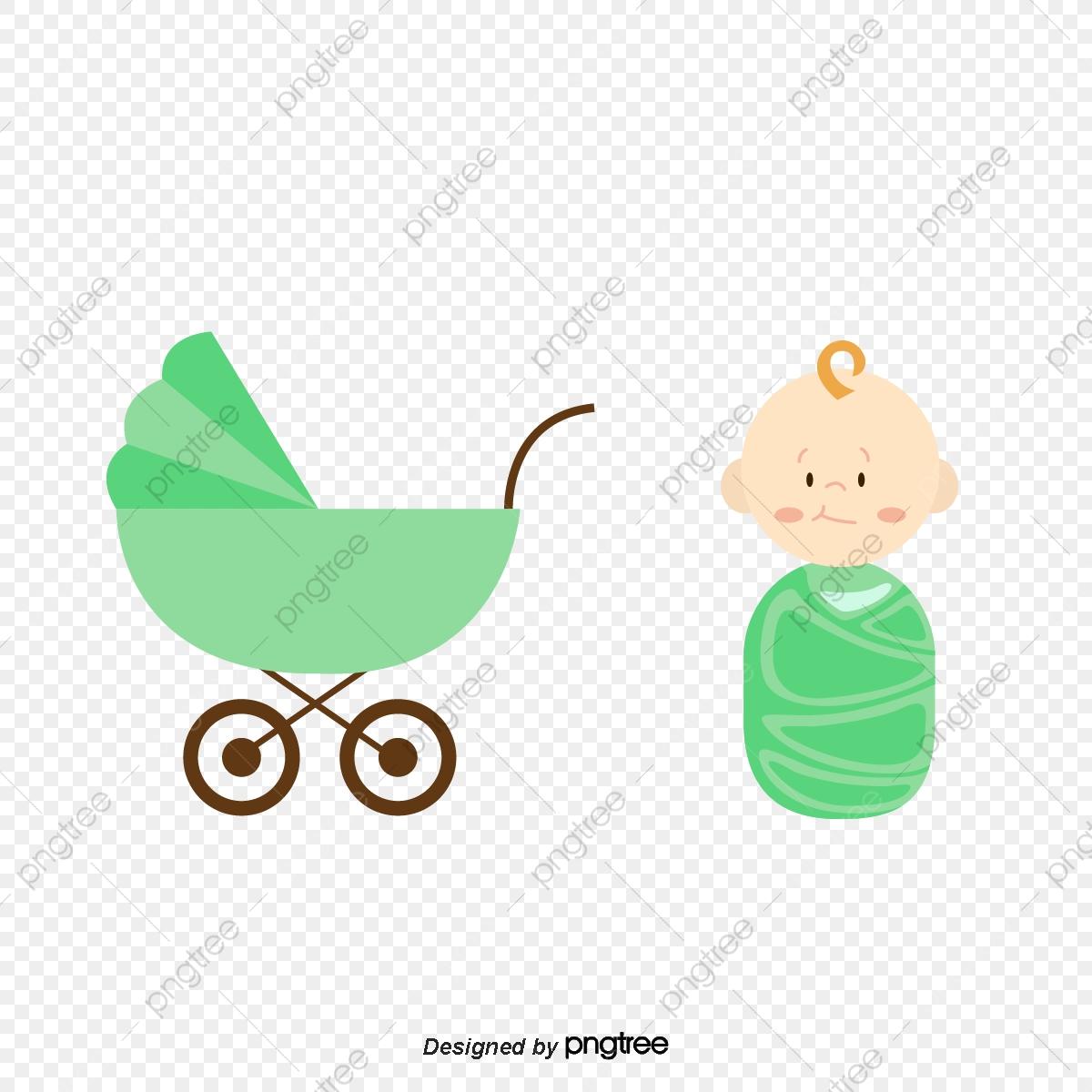 Bebe Dos Desenhos Animados Cartoon Baby Carrinho De Bebe Png E