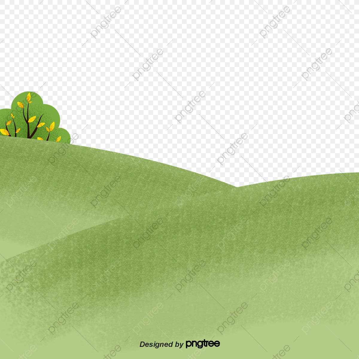 Cartoon Green Grassland Bottom Line Cartoon Shading Spring Png Transparent Clipart Image And Psd File For Free Download