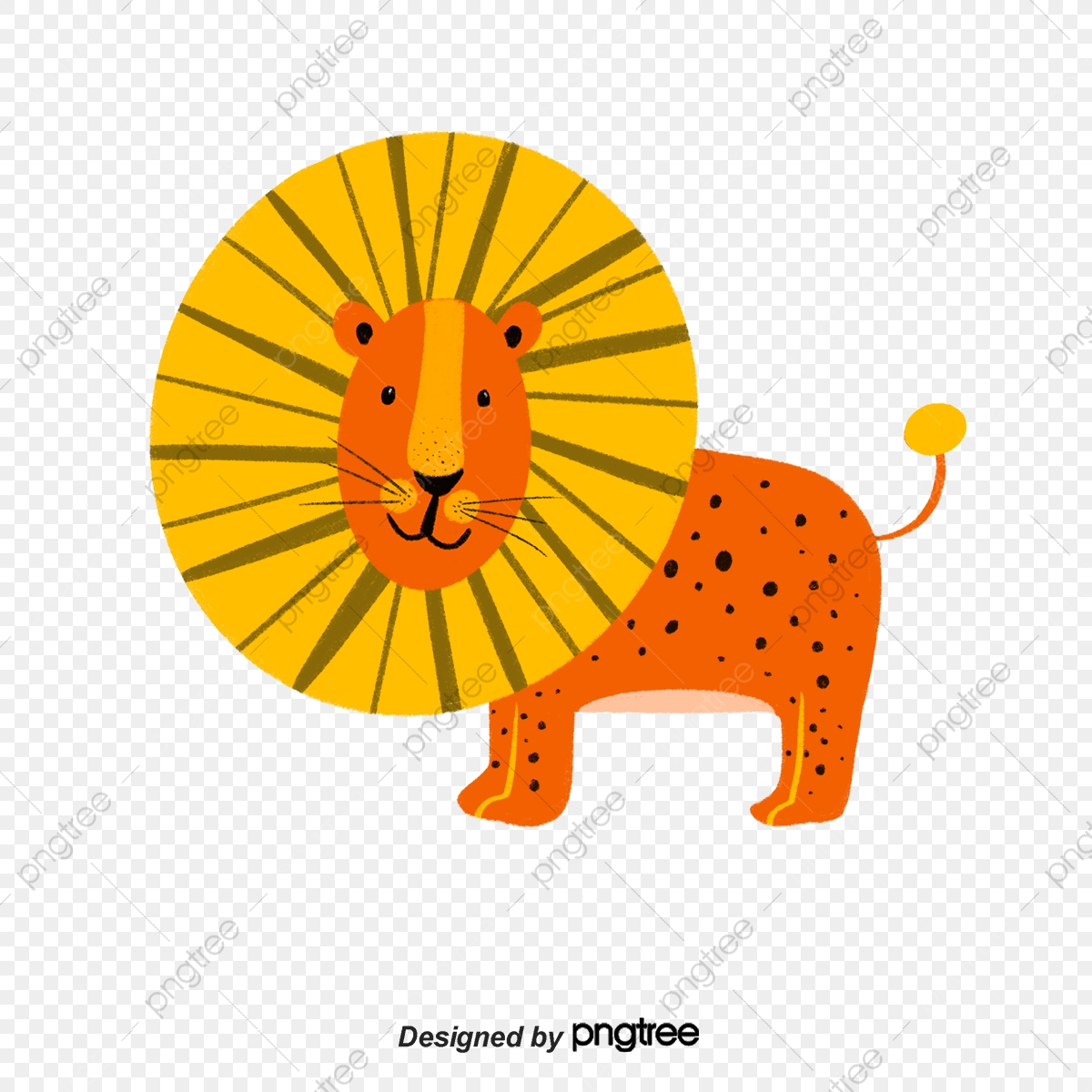 - Colour Cartoon Lion Element Illustration, Animal, Cartoon, Lovely