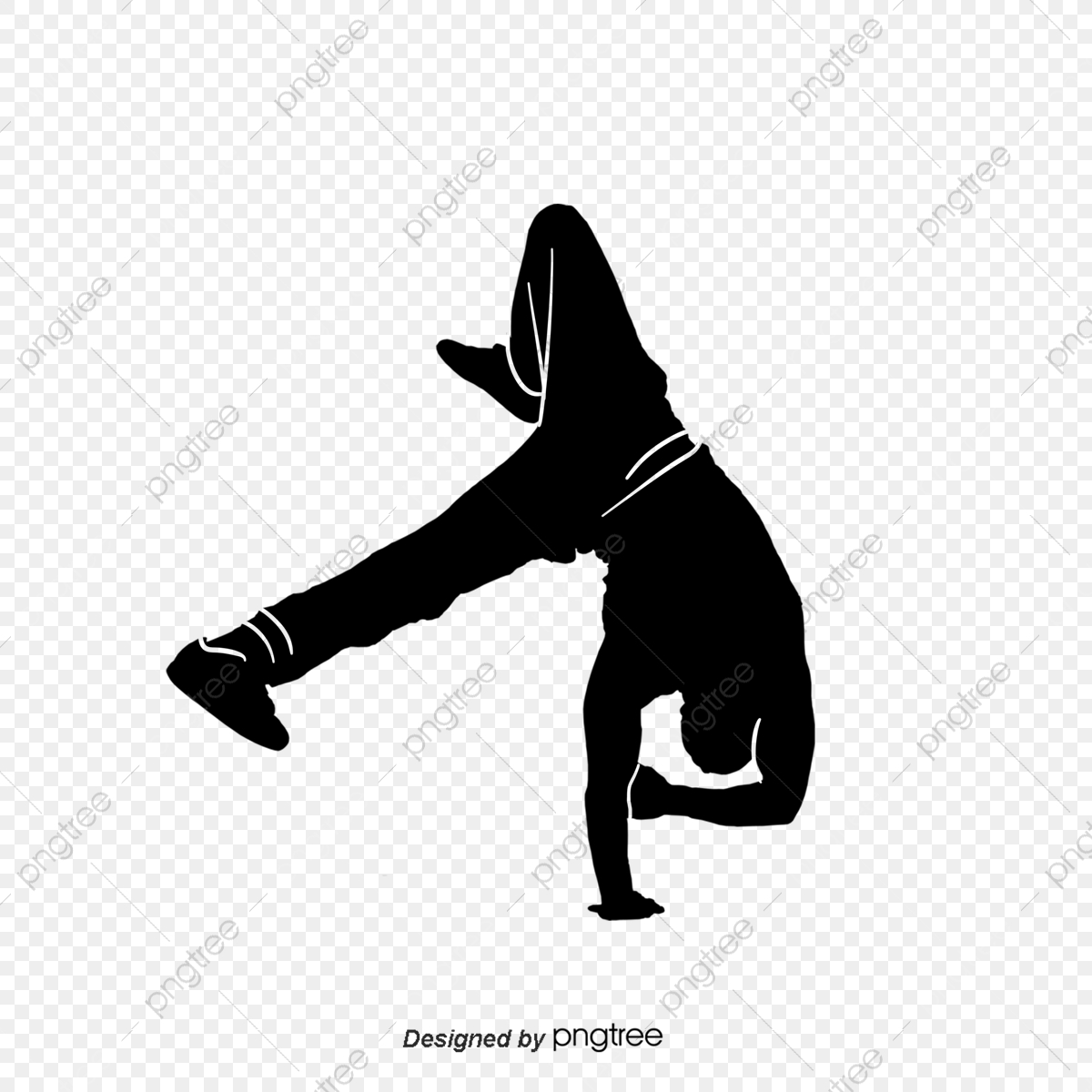 Cool Hip Hop Dance Silhouette Action Hand Painted Png Transparent Clipart Image And Psd File For Free Download