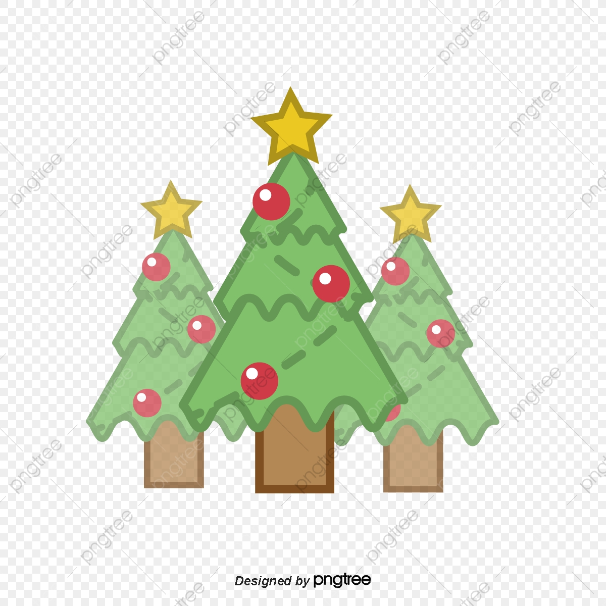 Christmas Tree Icon Png.Cute Christmas Tree Icon Cartoon Lovely Christmas Element