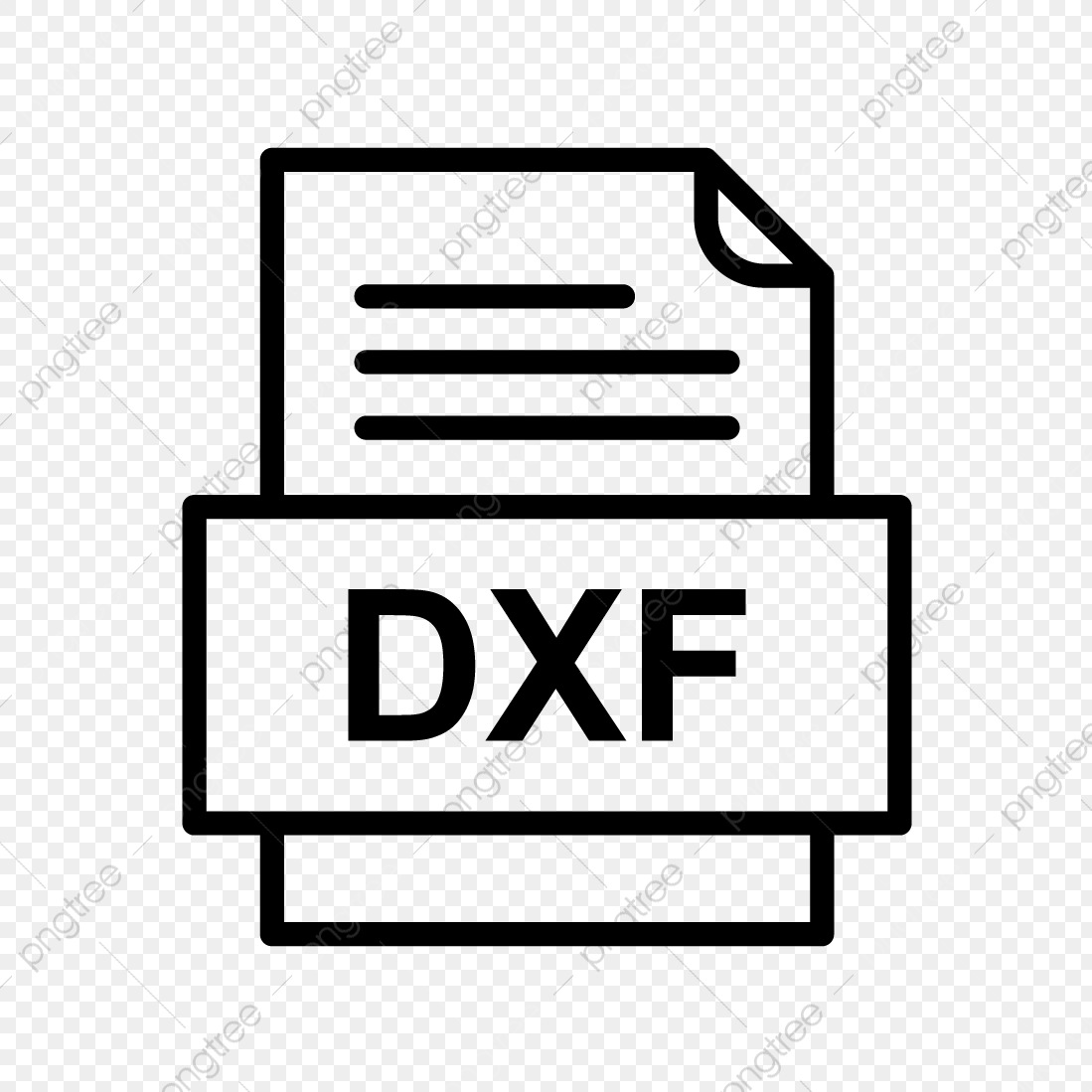 DXF File Document Icon, Dxf, Document, File PNG and Vector with