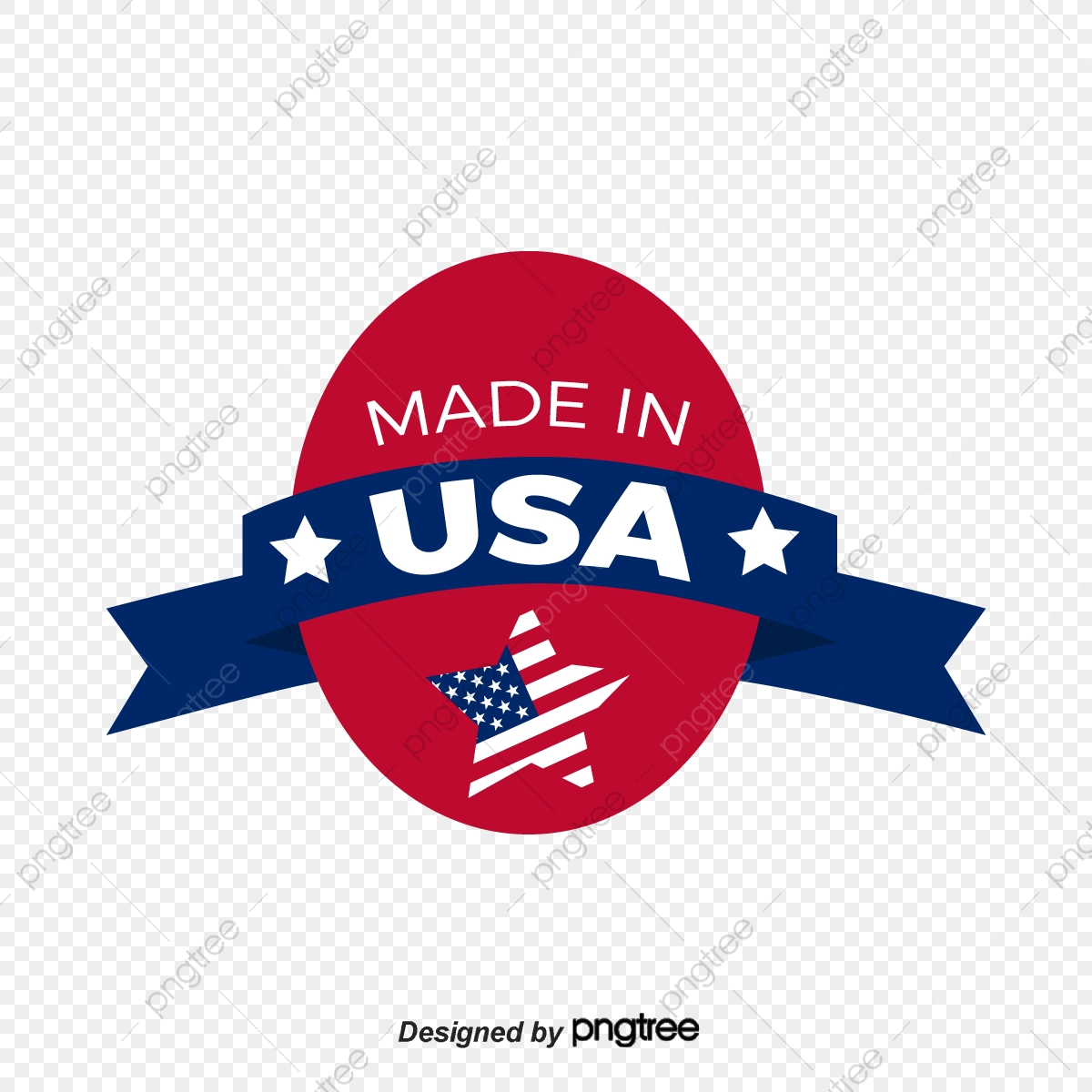 Elliptical Ribbon American Made Sign Stars Made In Usa Usa