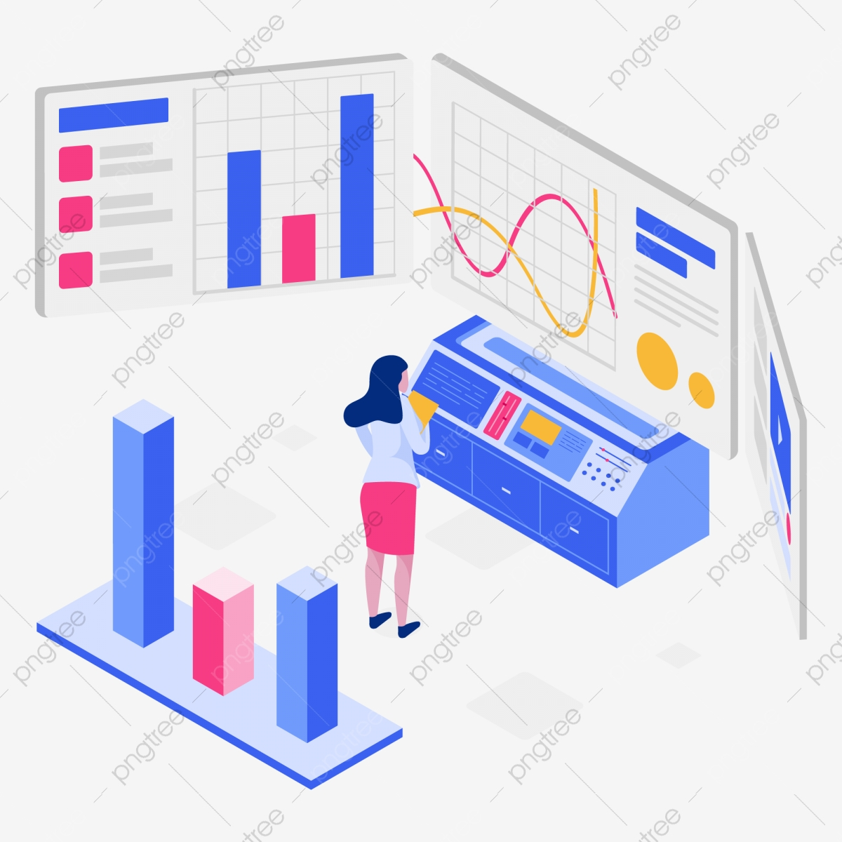 Engagement Rate Isometric Illustration Concept Isometric