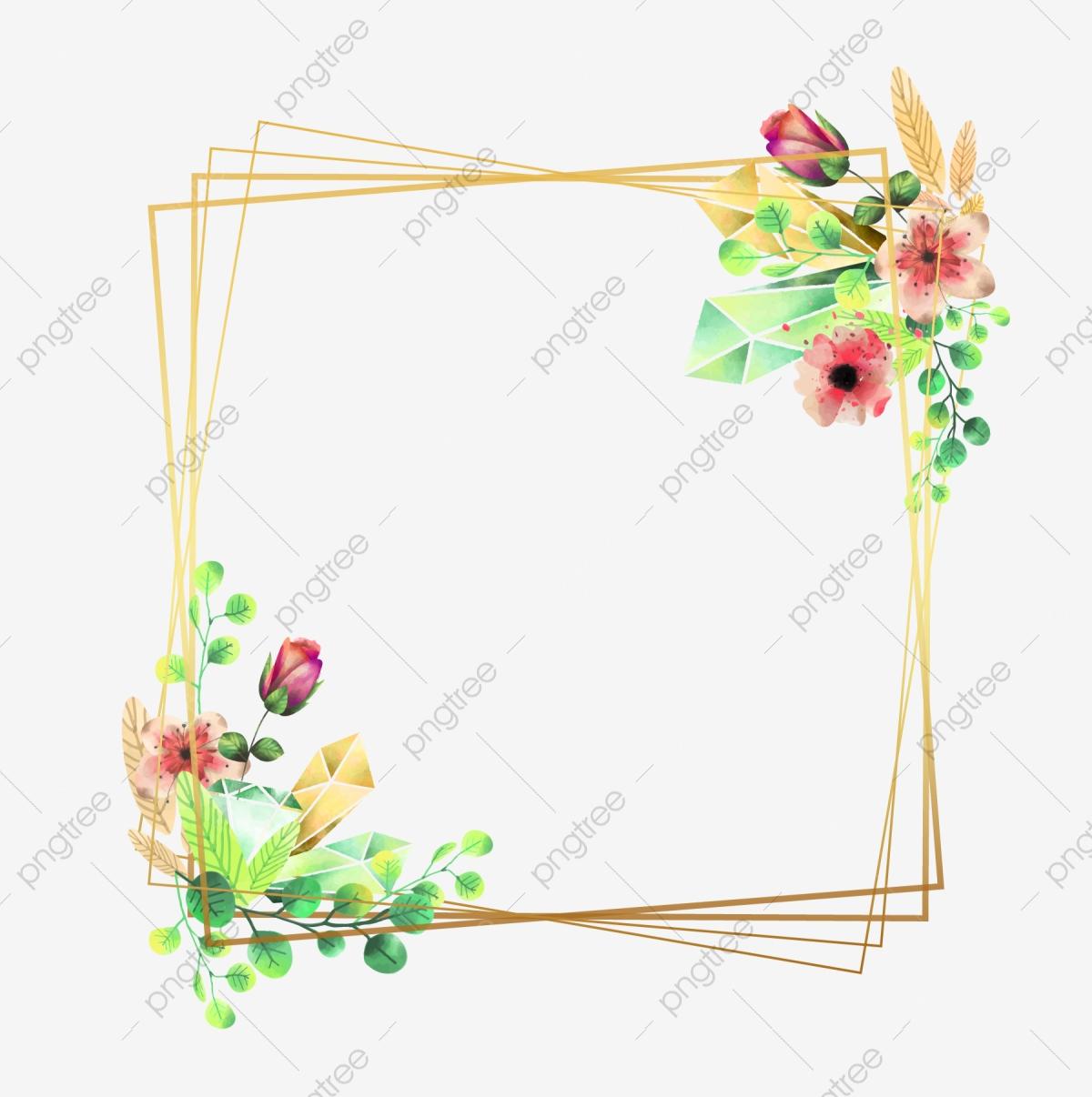 Flower Wedding Frame, Wedding, Frame, Flower PNG and Vector