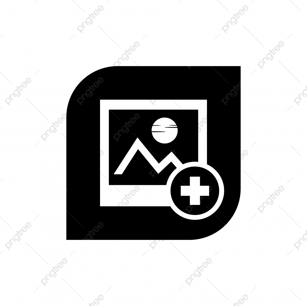 Gallery Flat Icon, Blank, Blue, Border PNG and Vector with