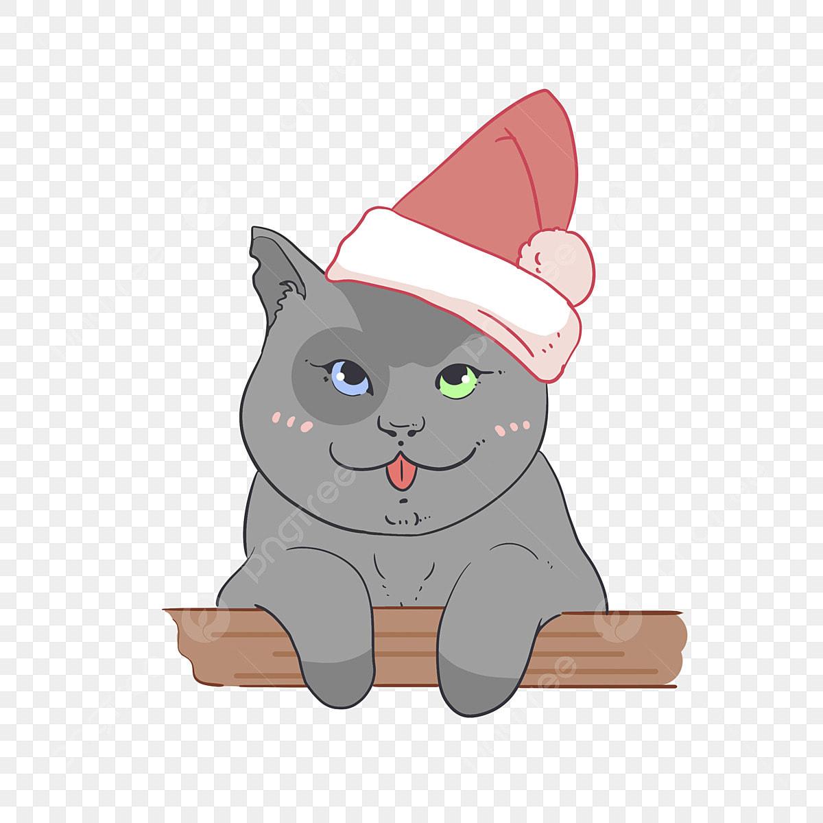 帽子をかぶった猫 動物 アニメ キャラクタークリップ画像と