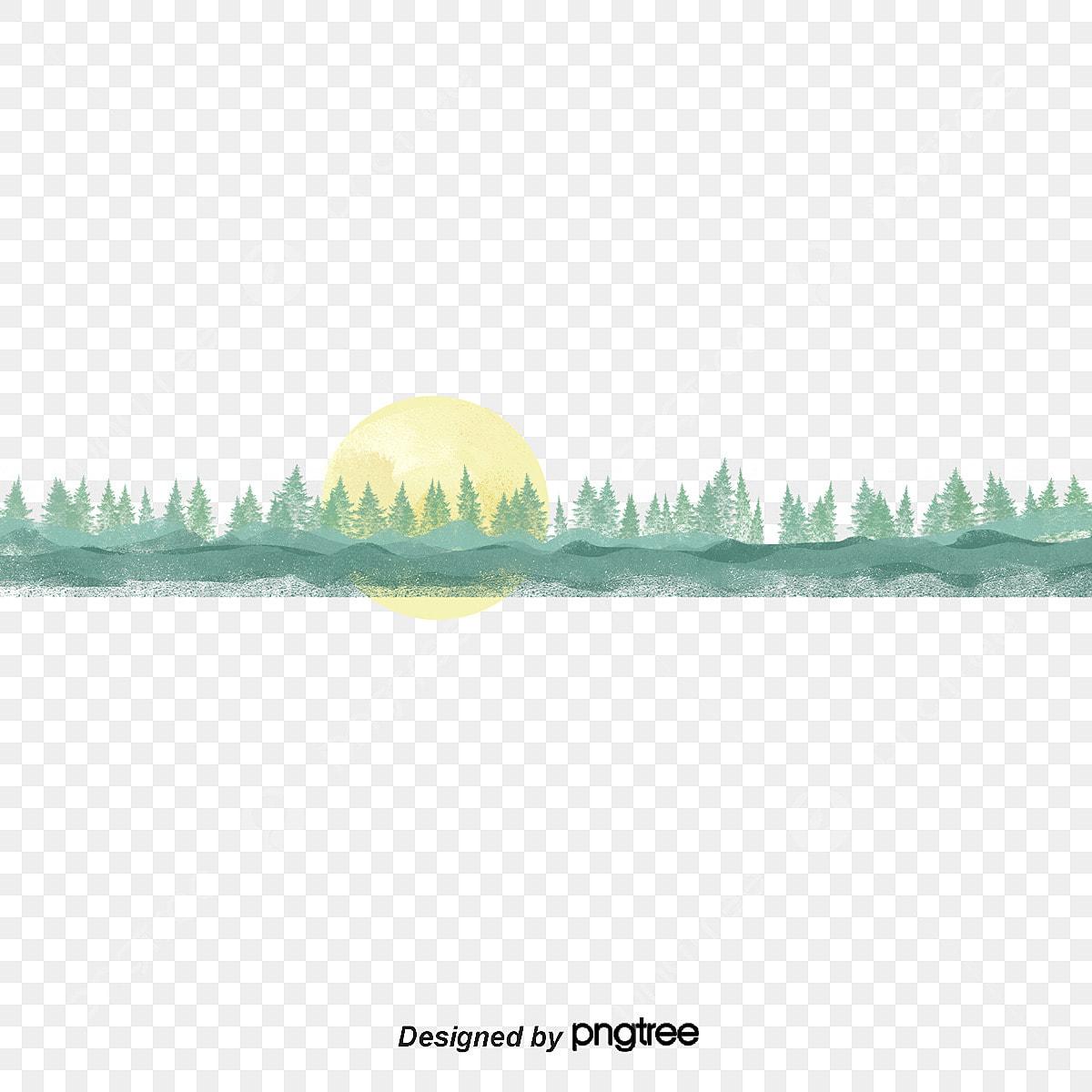 Bằng Tay Màu Xanh Lá Cây Rừng Vàng ánh Nắng Mặt Trời Mặt