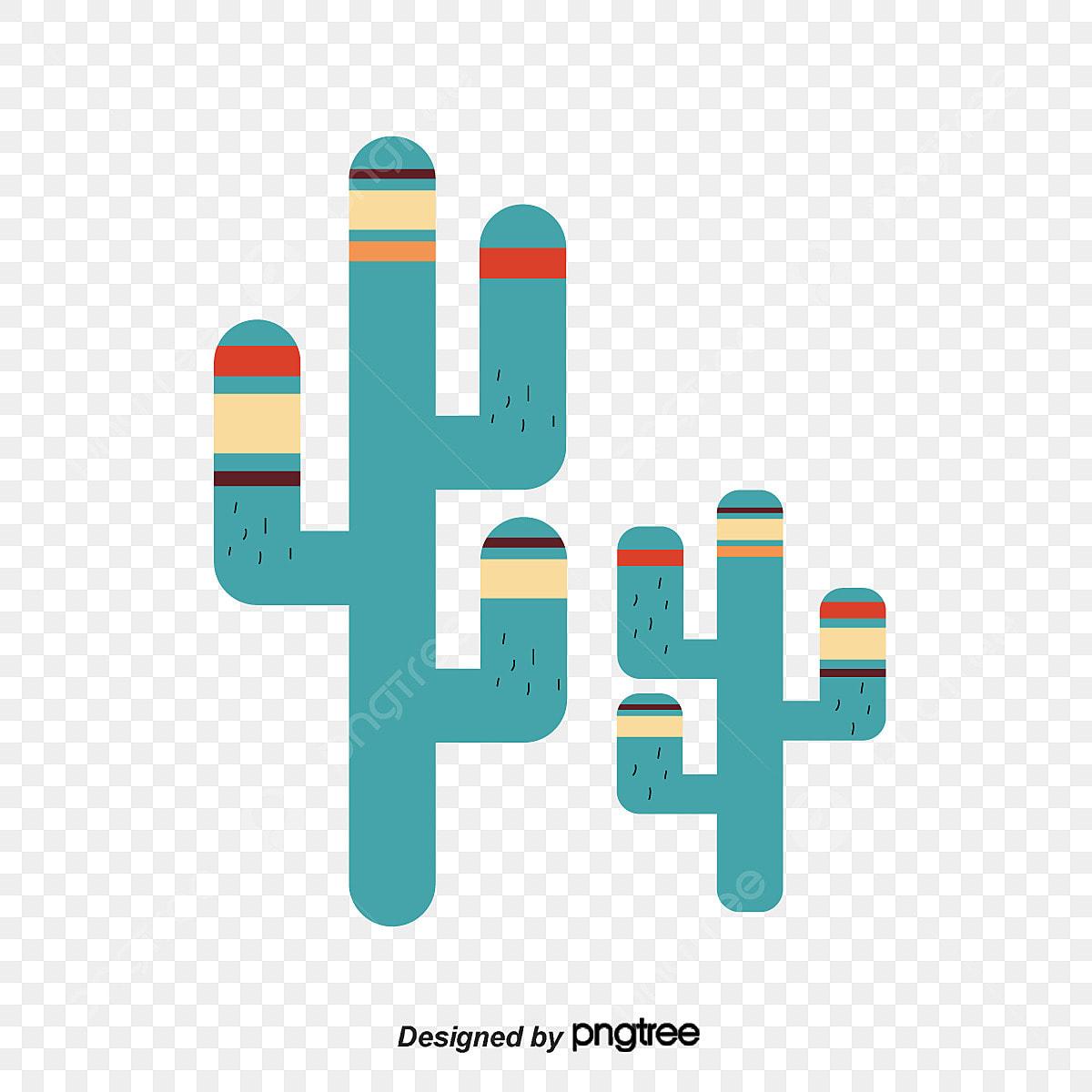 Cactus boho. Indian green design png