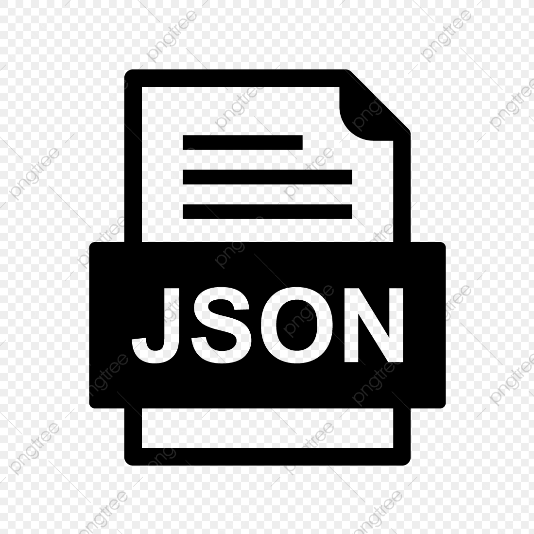 Json File Document Icon, Json, Document, File PNG and Vector
