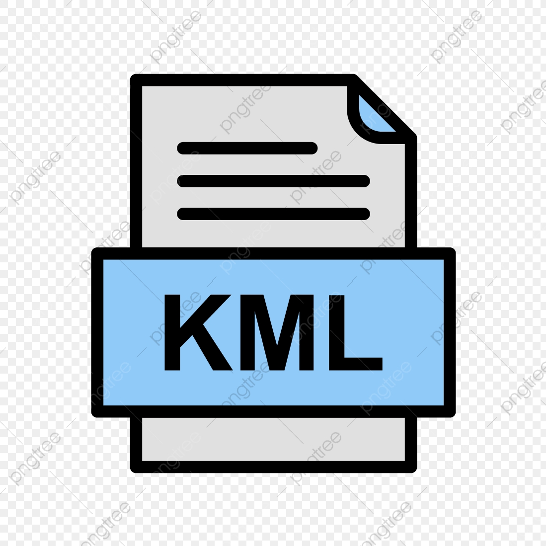 Kml File Document Icon, Kml, Document, File PNG and Vector
