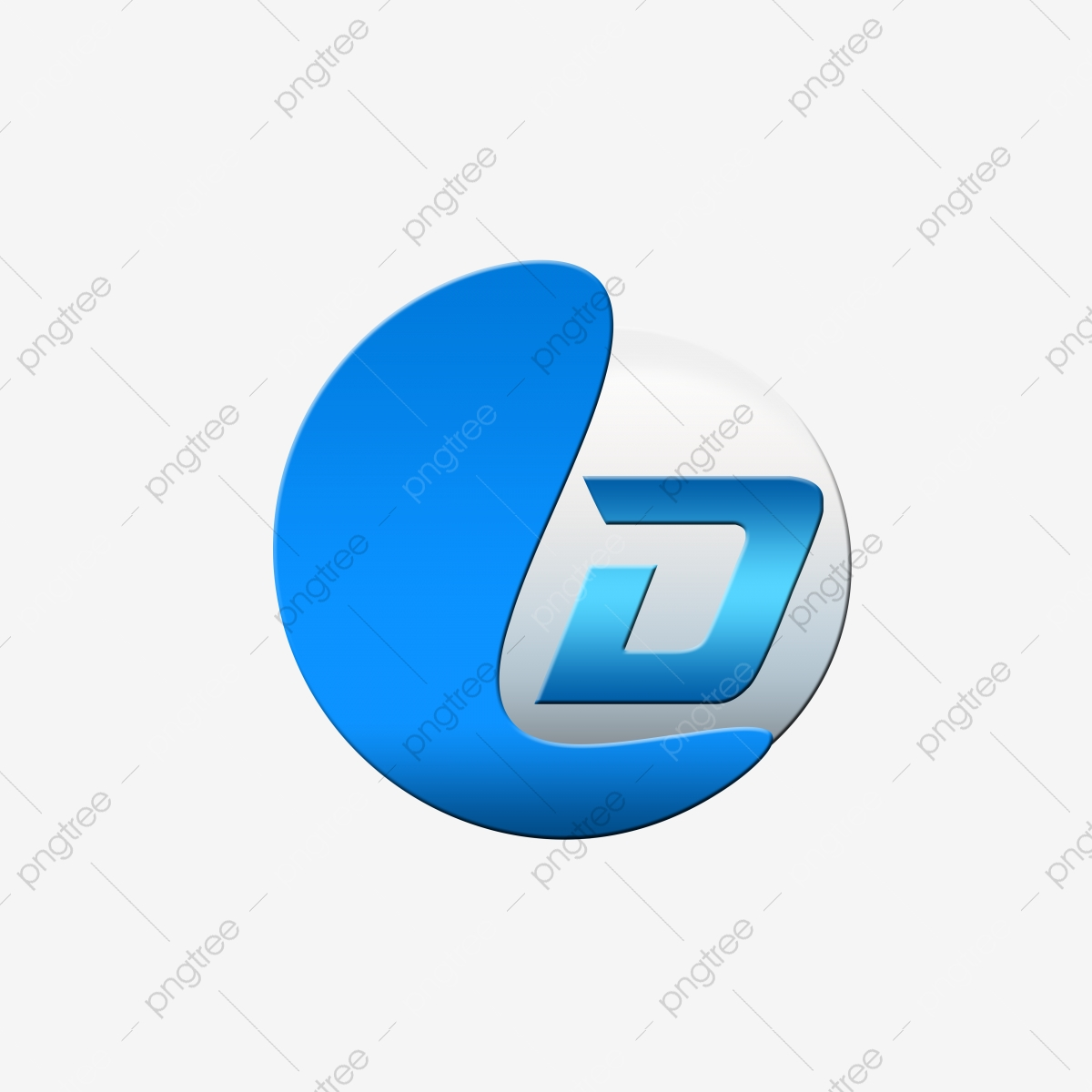 Letter D 3d Company Logo Design A Abstract 3d Png