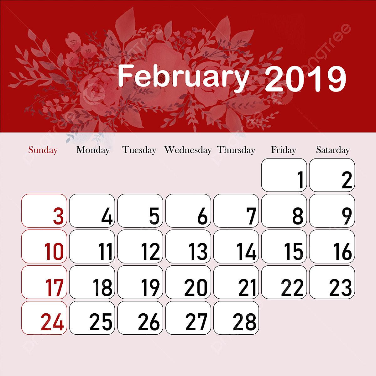 Actualizar Calendario.Mes De Febrero Calendario 2019 2019 Calendario Calendario