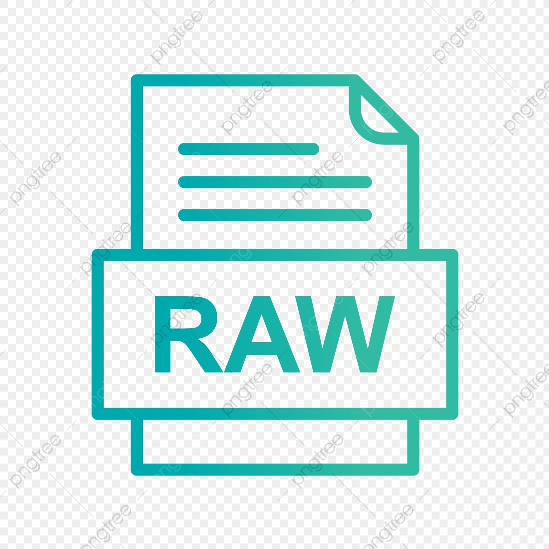 RAW File Document Icon, Raw, Document, File PNG and Vector with