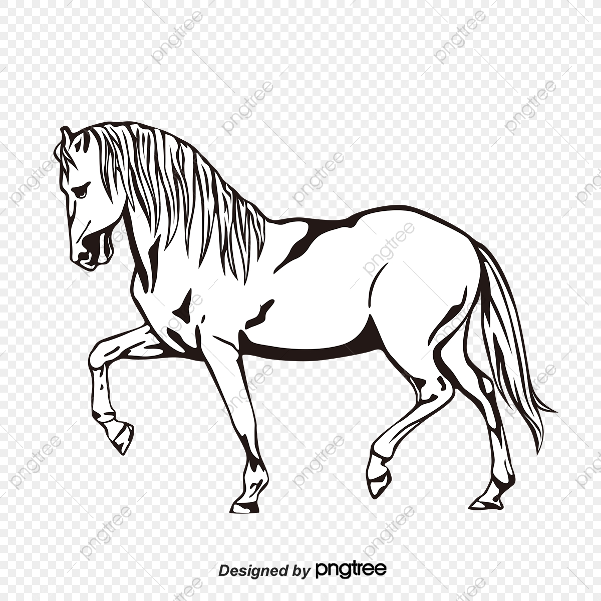 Silhouette Of Black And White Horse Horse Clipart Black And White Silhouette Animal Png And Vector With Transparent Background For Free Download