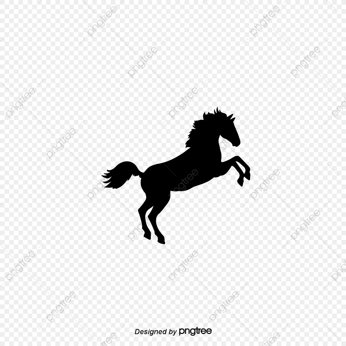 Simple Elements Of Horse Running And Jumping Silhouette Horse Clipart Silhouette Running Png And Vector With Transparent Background For Free Download