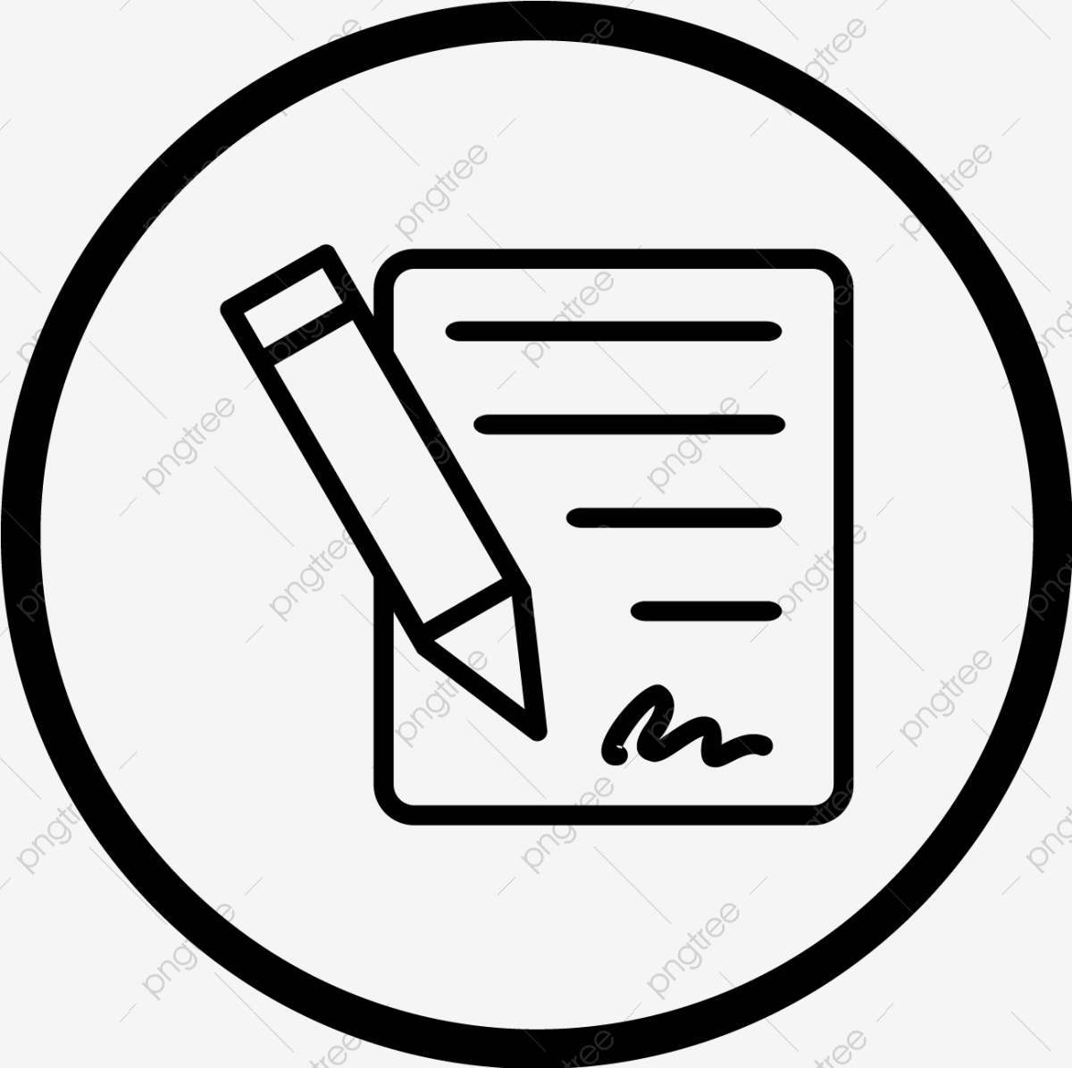 Vector Contract Icon Agreement Contract Affidavit Png And