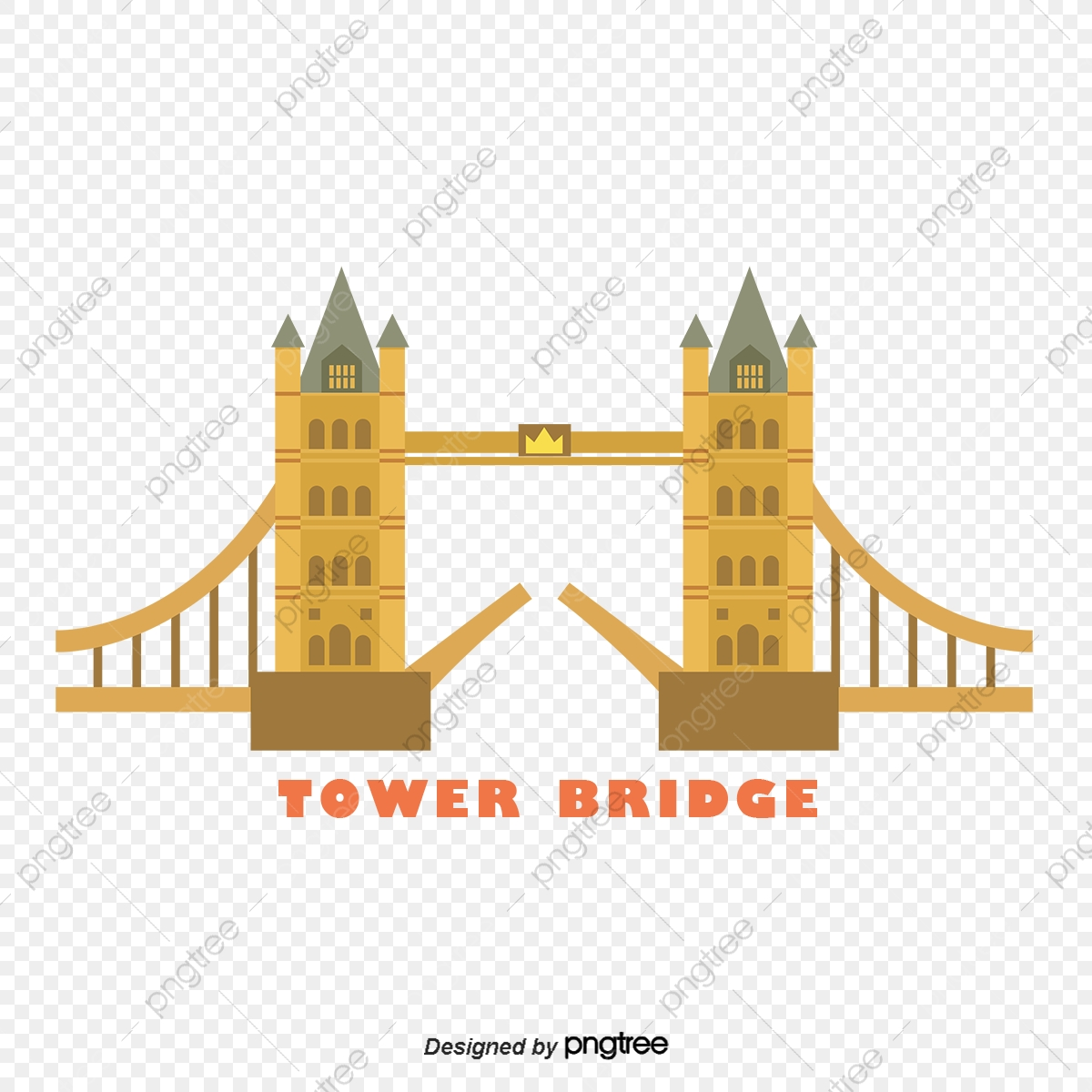 London Tower Bridge Vector Element Géométrie Pont Tower
