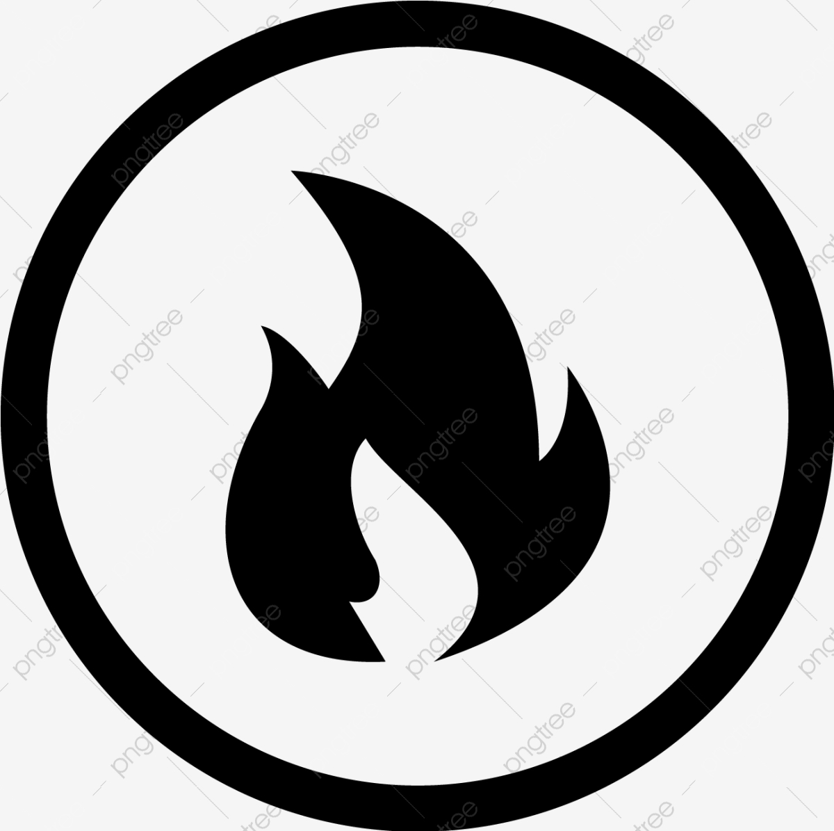 Vector Fire Icon Fire Flame Bonfire Png And Vector With