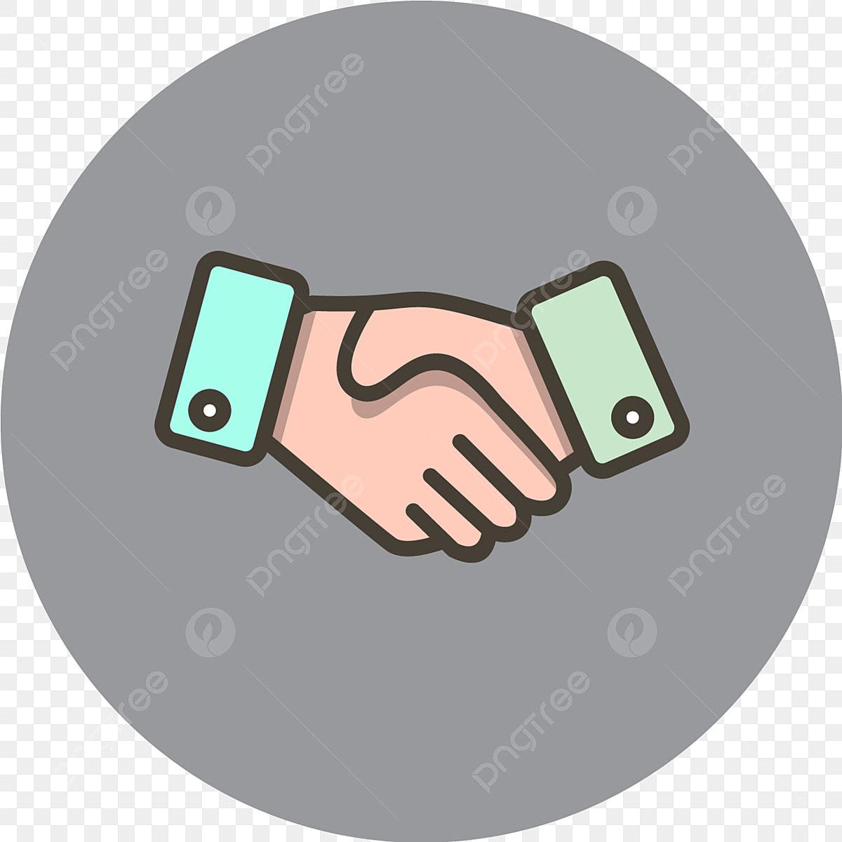 Vektor Berjabat Tangan Ikon Perjanjian Ikon Kesepakatan Bisnis