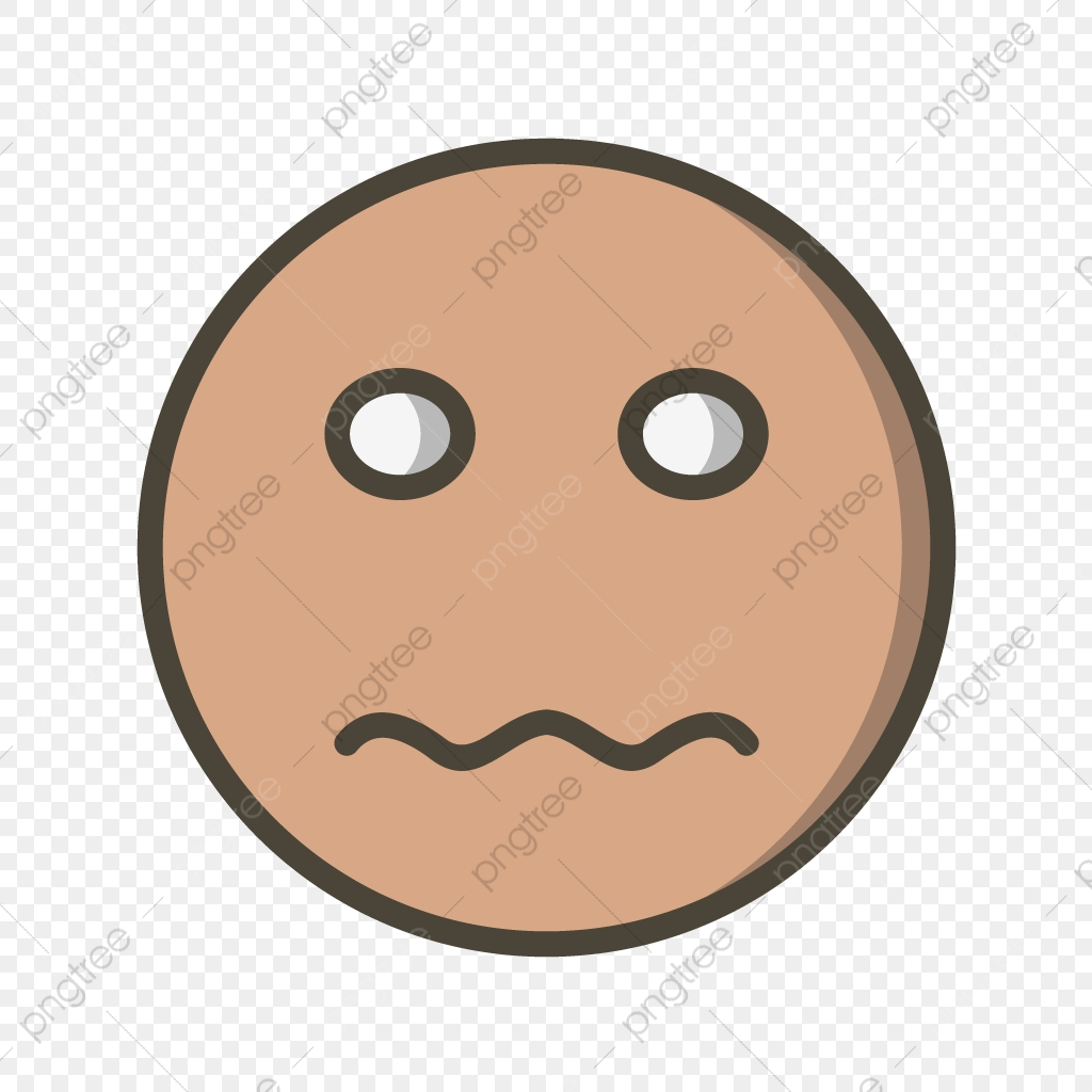 Vector Nervous Emoji Icon, Nervous, Emoji, Emoticon PNG and