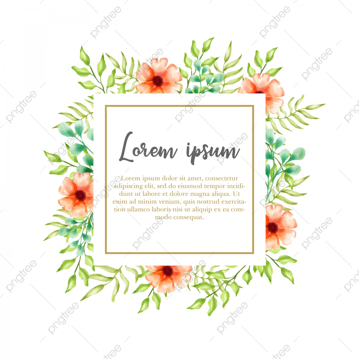 Watercolor Floral Background Vector For Wedding Invitation