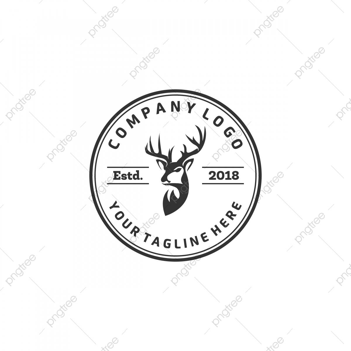 شعار نادي الصيد تصاميم شعار الغزلان البرية حيوان قرن الوعل