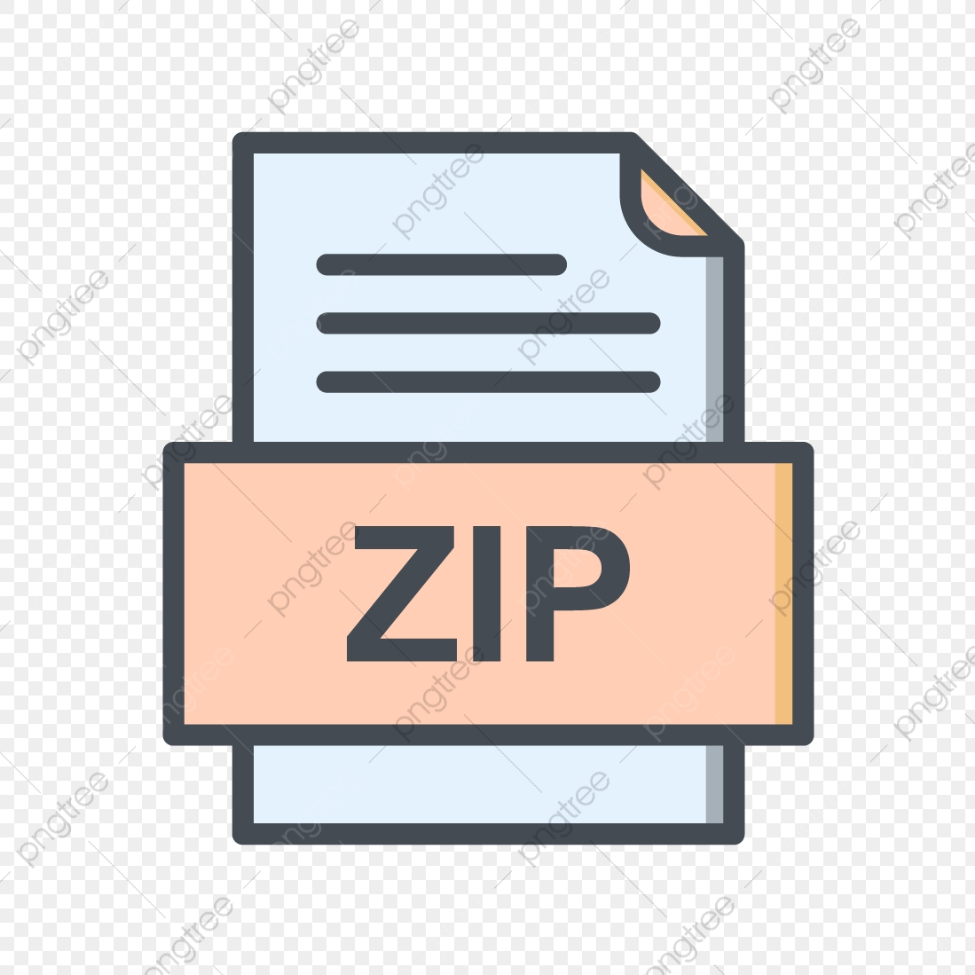 Zip File Document Icon, Zip, Document, File PNG and Vector with