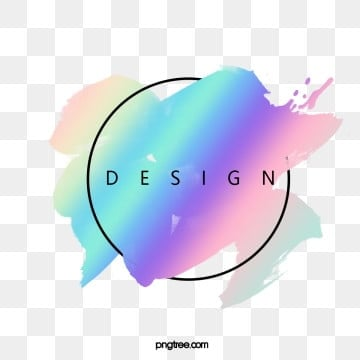 holographic  brush border, Element, Holographic, Iridescent Color PNG and PSD