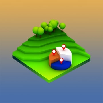 landscape concept isometric infographic, Illustration, Design, Isometric PNG and PSD